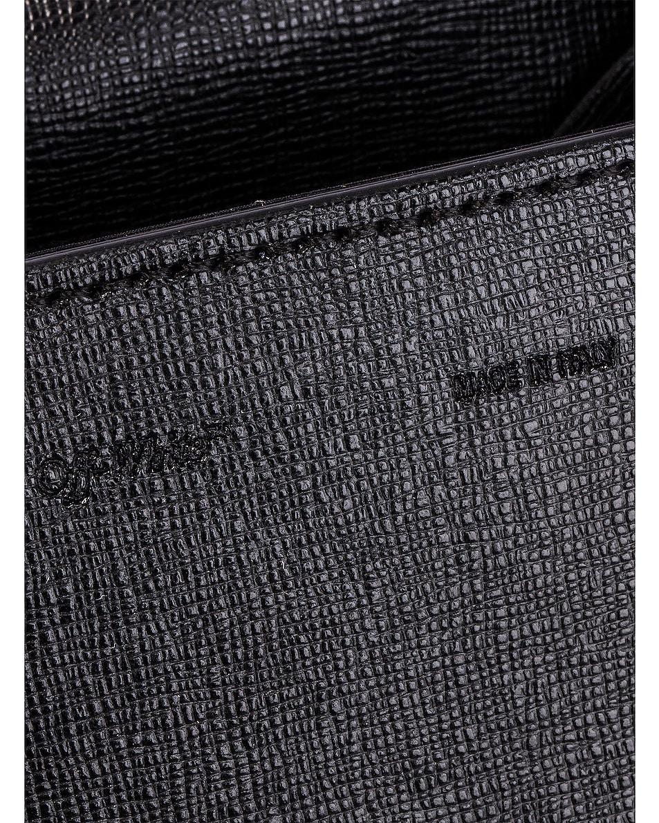 Image 7 of OFF-WHITE Diagonal Baby Flap Bag in Black & White