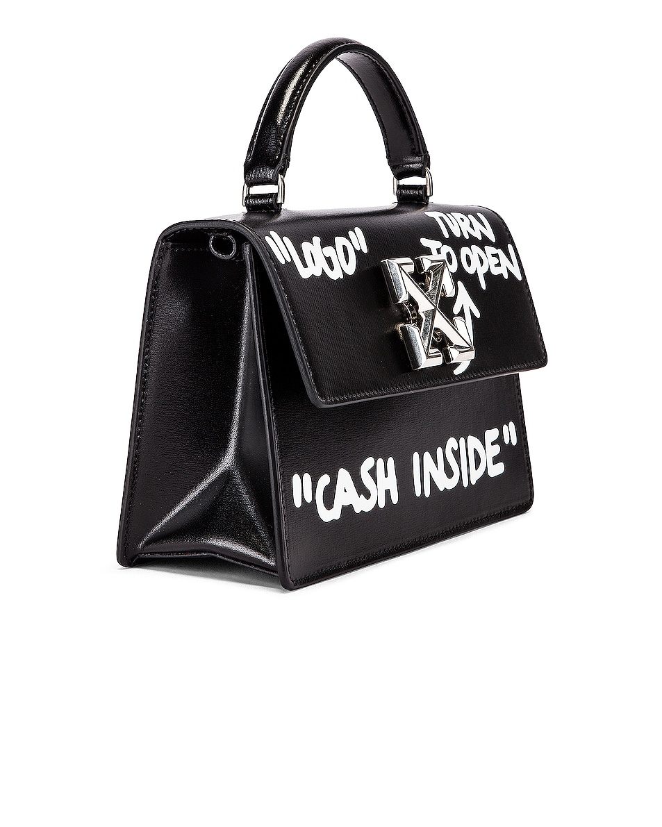 Image 3 of OFF-WHITE Jitney 1.4 Cash Inside Bag in Black & White