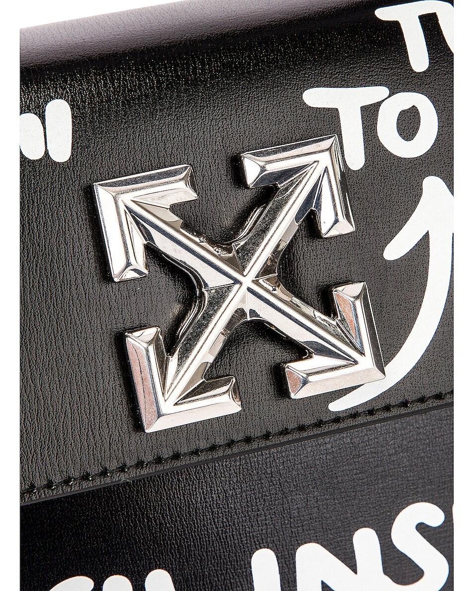 Image 6 of OFF-WHITE Jitney 1.4 Cash Inside Bag in Black & White