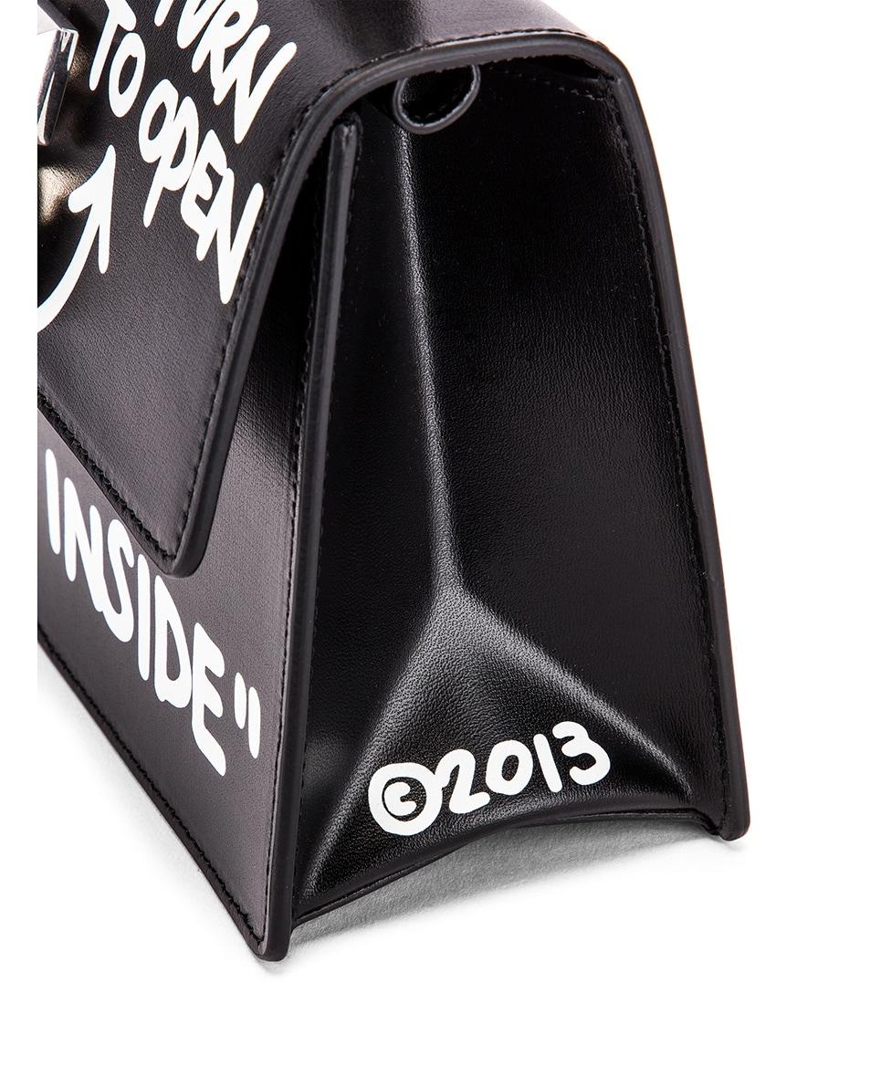 Image 8 of OFF-WHITE Jitney 1.4 Cash Inside Bag in Black & White
