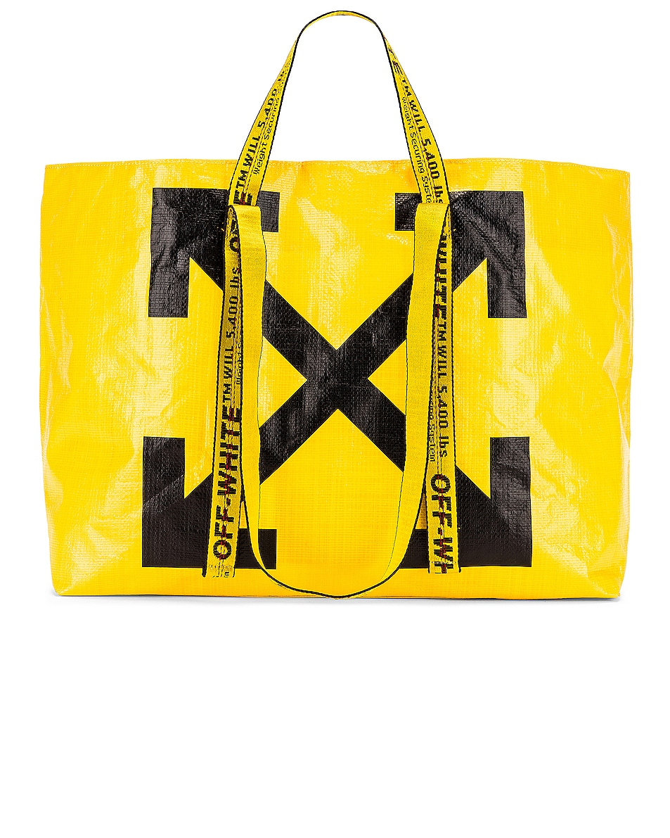 Image 1 of OFF-WHITE New Commercial Tote Bag in Yellow & Black