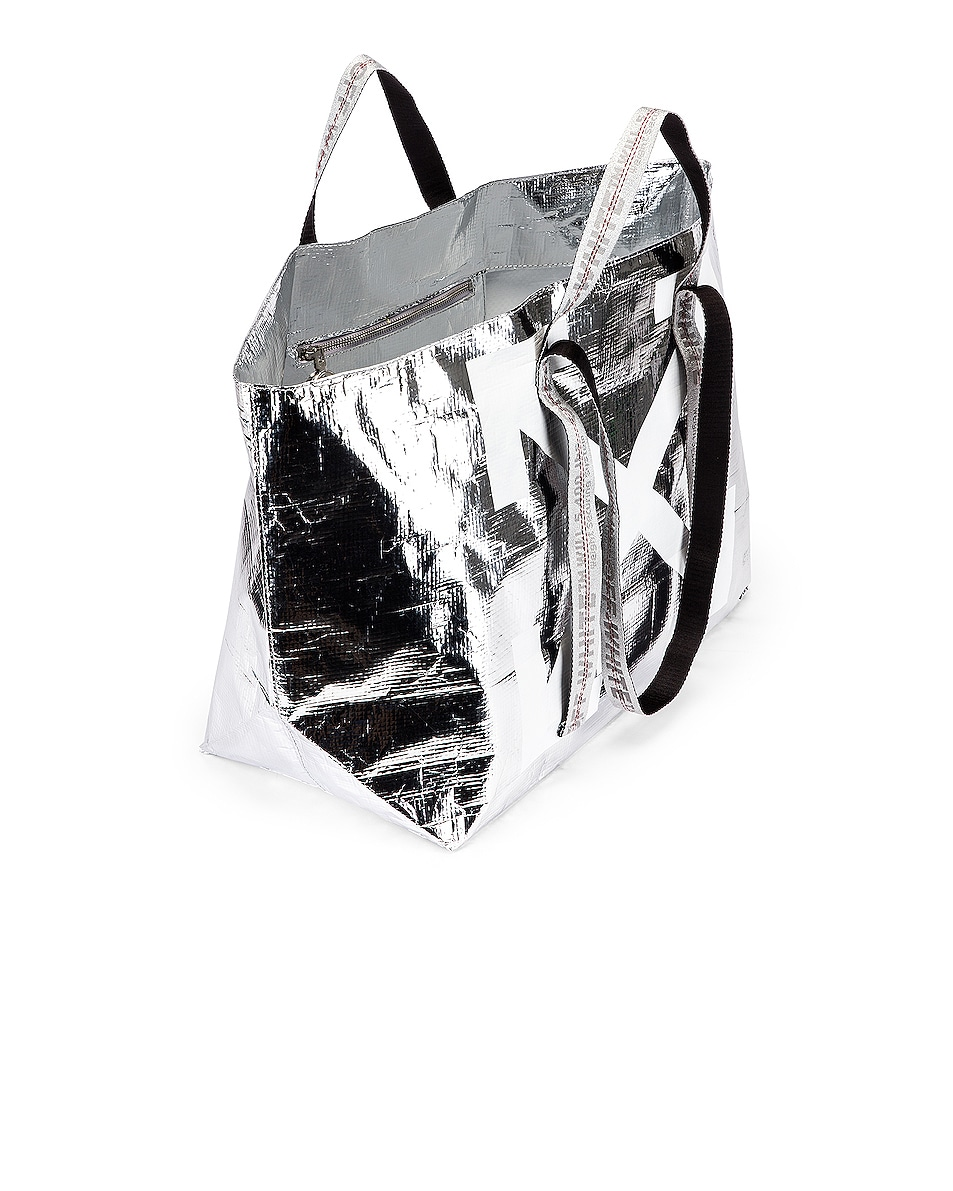 Image 4 of OFF-WHITE New Commercial Tote Bag in Silver & White