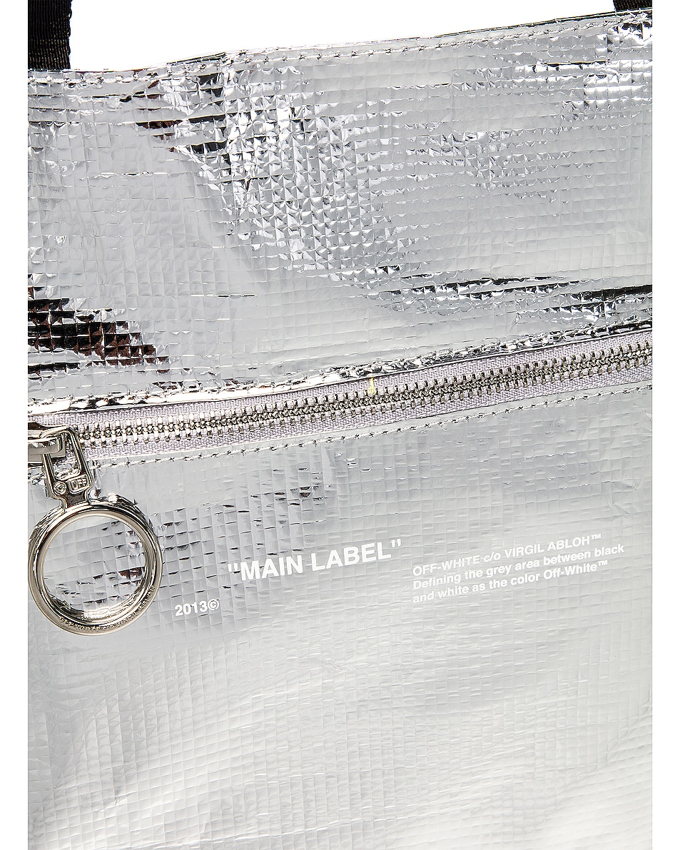 Image 6 of OFF-WHITE New Commercial Tote Bag in Silver & White