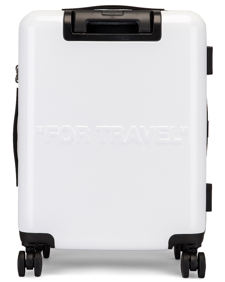 Image 2 of OFF-WHITE Arrow Trolley Luggage in White