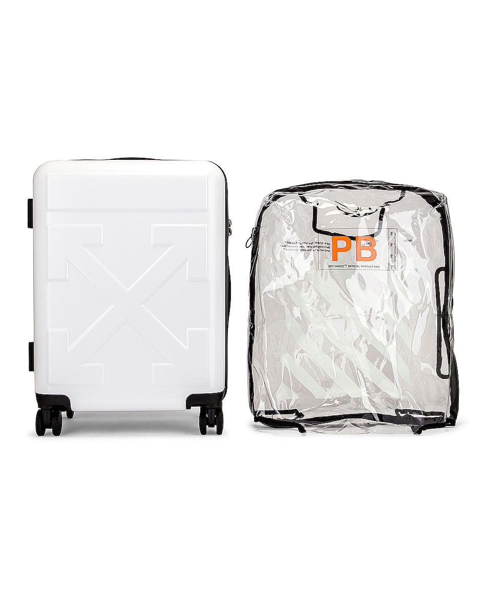 Image 4 of OFF-WHITE Arrow Trolley Luggage in White