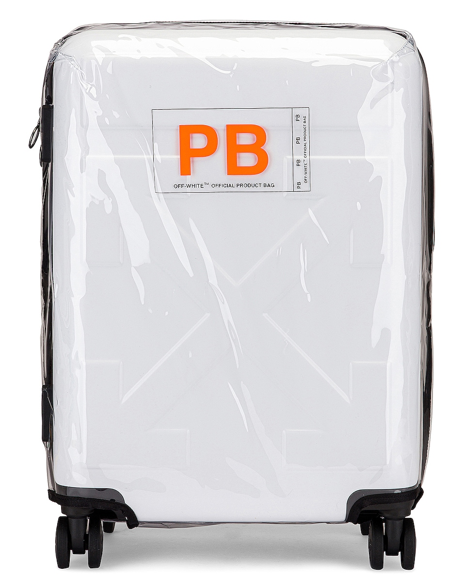 Image 5 of OFF-WHITE Arrow Trolley Luggage in White
