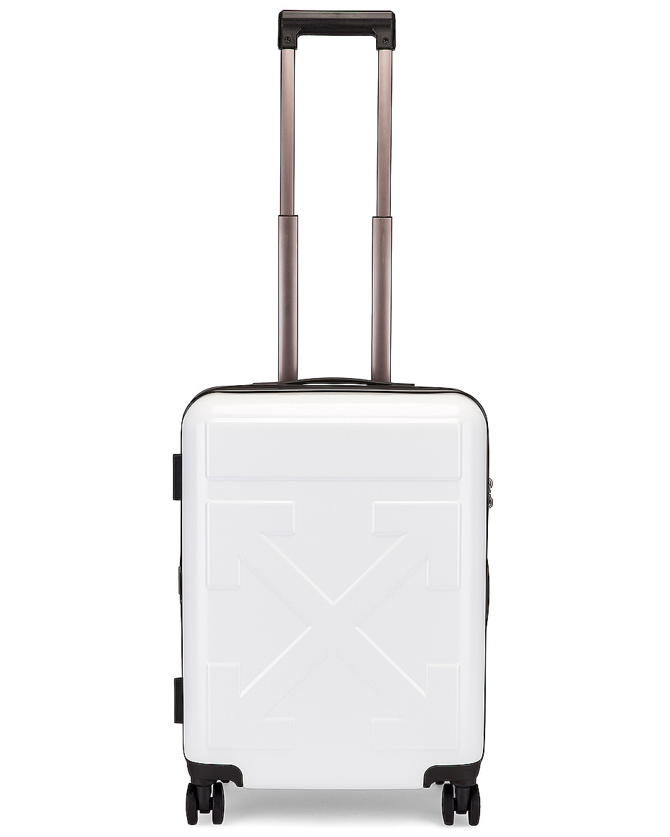 Image 8 of OFF-WHITE Arrow Trolley Luggage in White