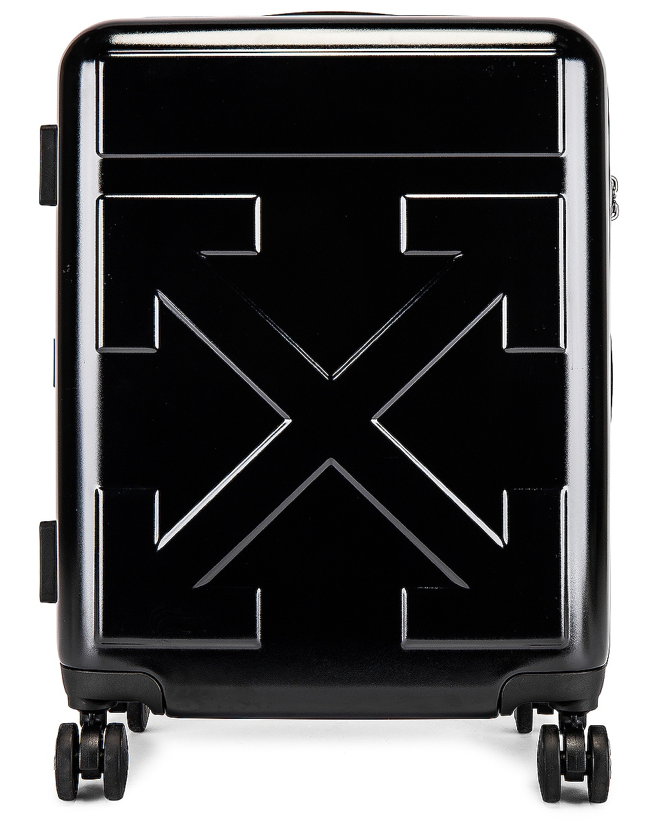 Image 1 of OFF-WHITE Arrow Trolley Luggage in Black