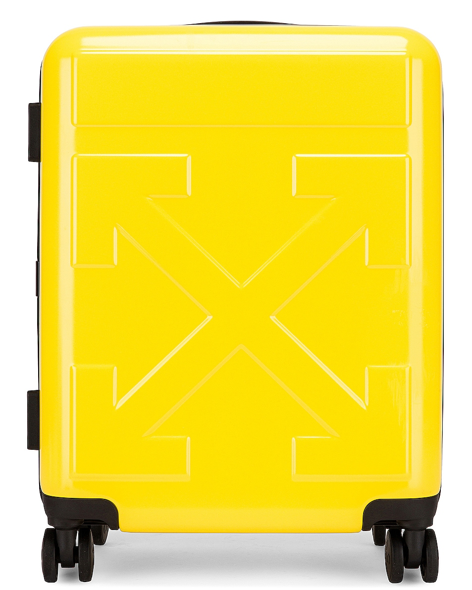 Image 1 of OFF-WHITE Arrow Trolley Luggage in Yellow