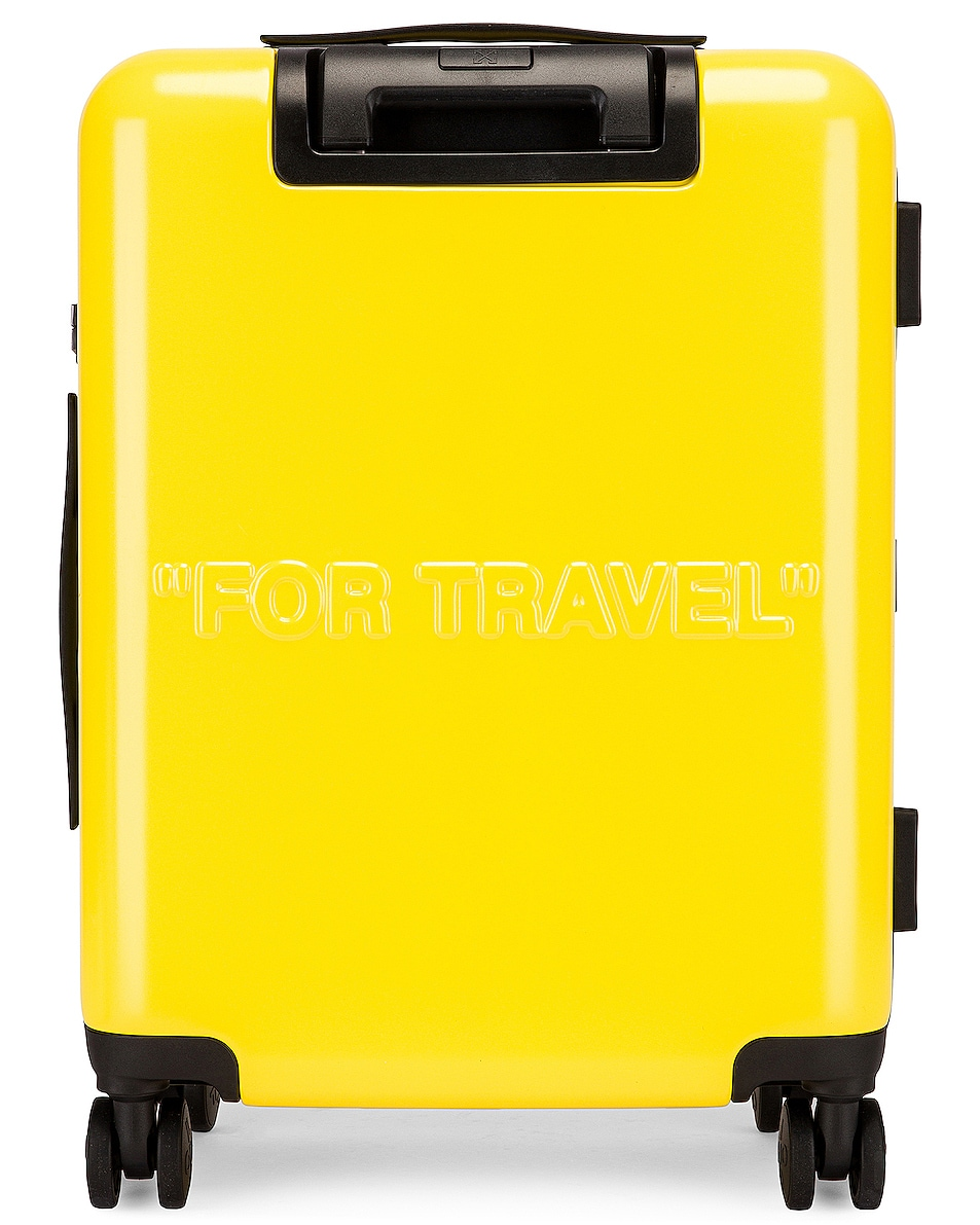 Image 2 of OFF-WHITE Arrow Trolley Luggage in Yellow