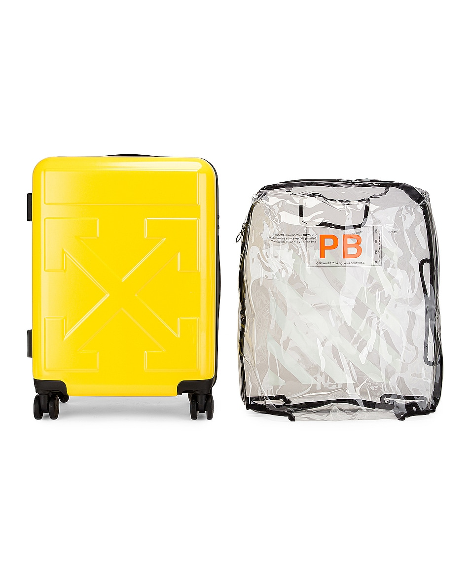 Image 4 of OFF-WHITE Arrow Trolley Luggage in Yellow