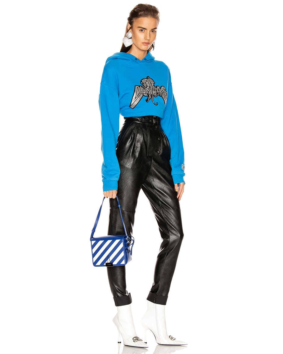 Image 2 of OFF-WHITE Diagonal Flap Bag in Blue & White