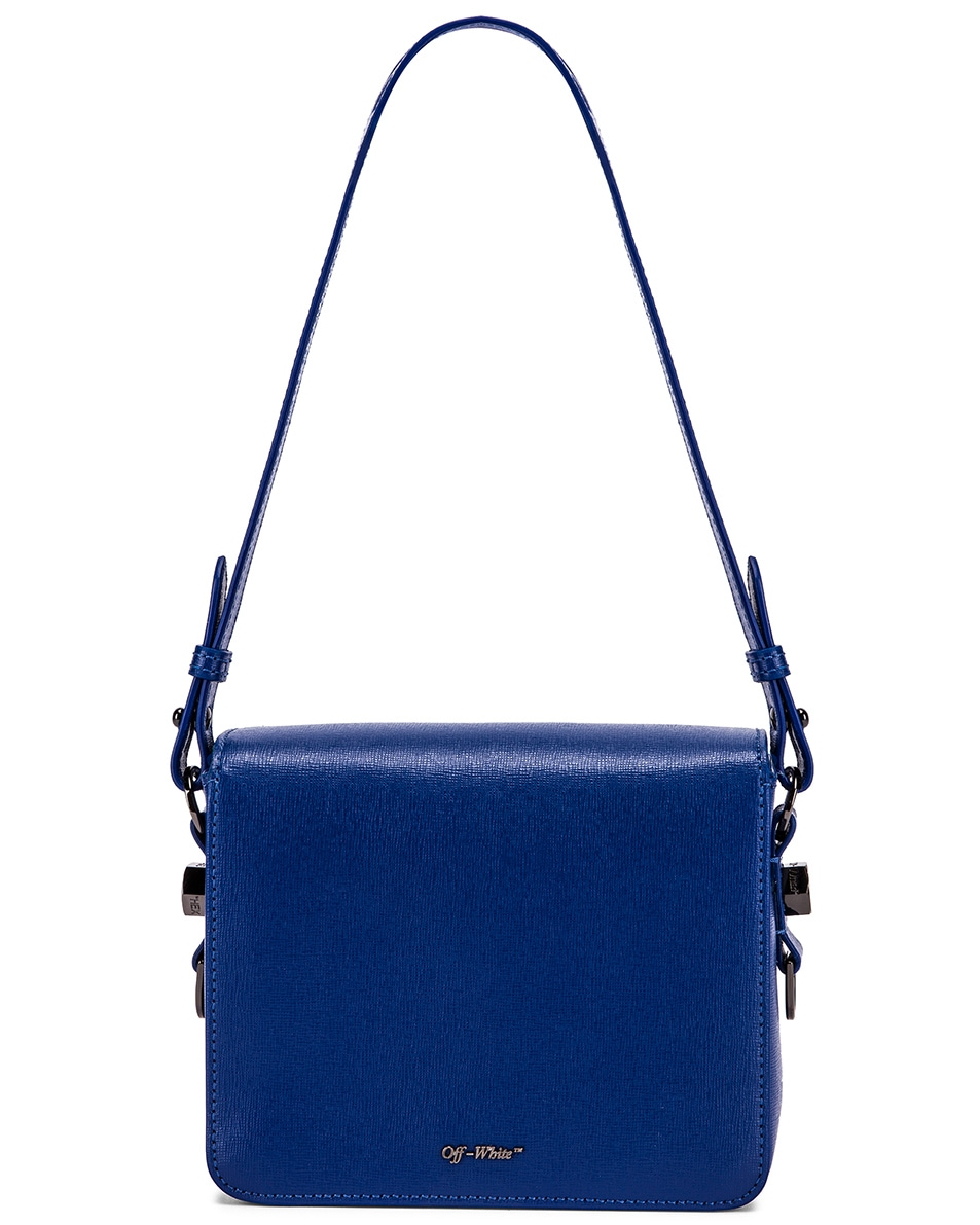 Image 3 of OFF-WHITE Diagonal Flap Bag in Blue & White
