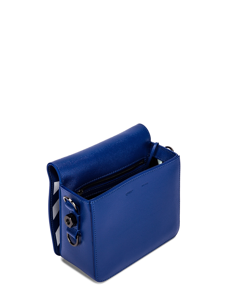 Image 5 of OFF-WHITE Diagonal Flap Bag in Blue & White