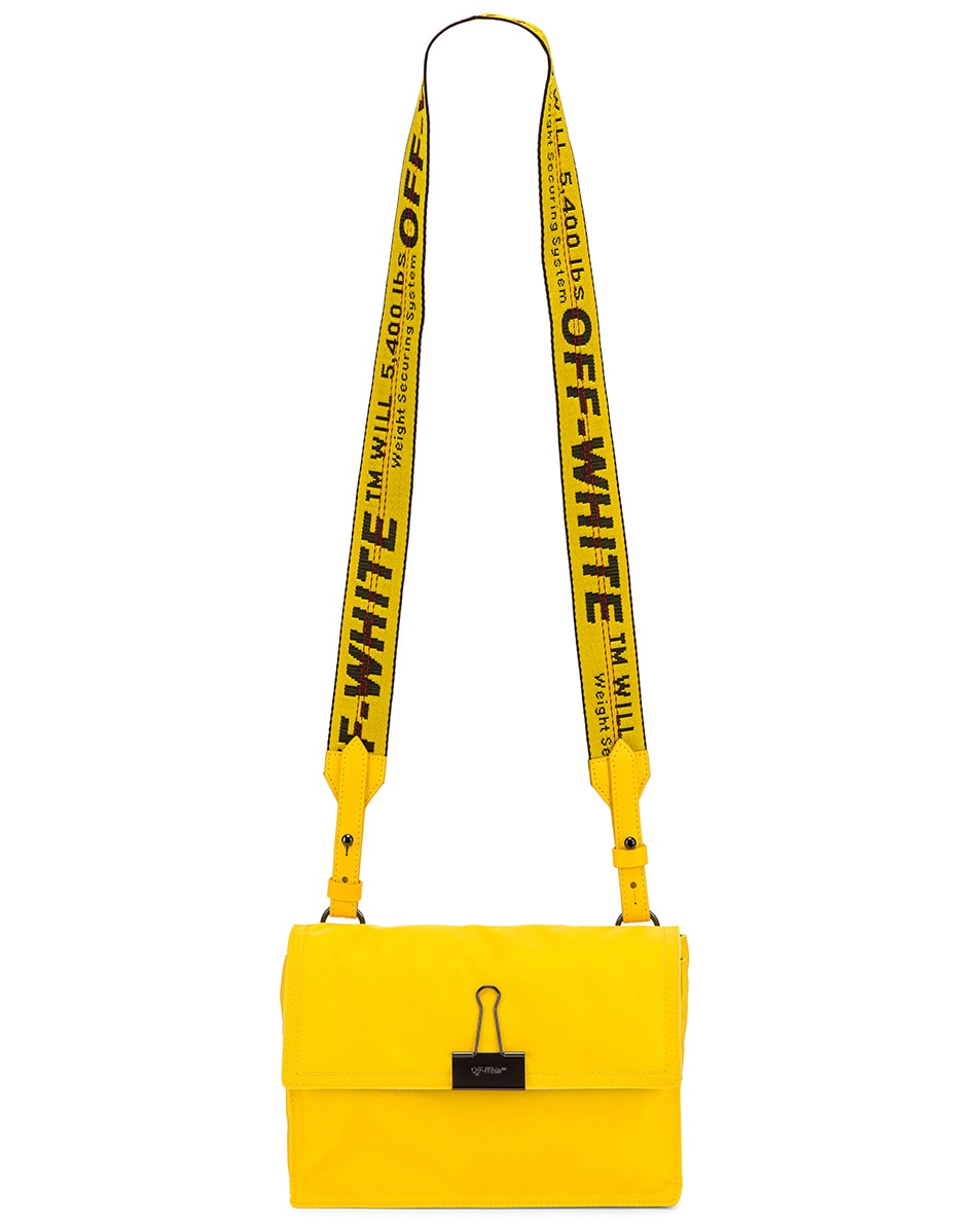 Image 6 of OFF-WHITE Nylon Zipped Flap Bag in Yellow