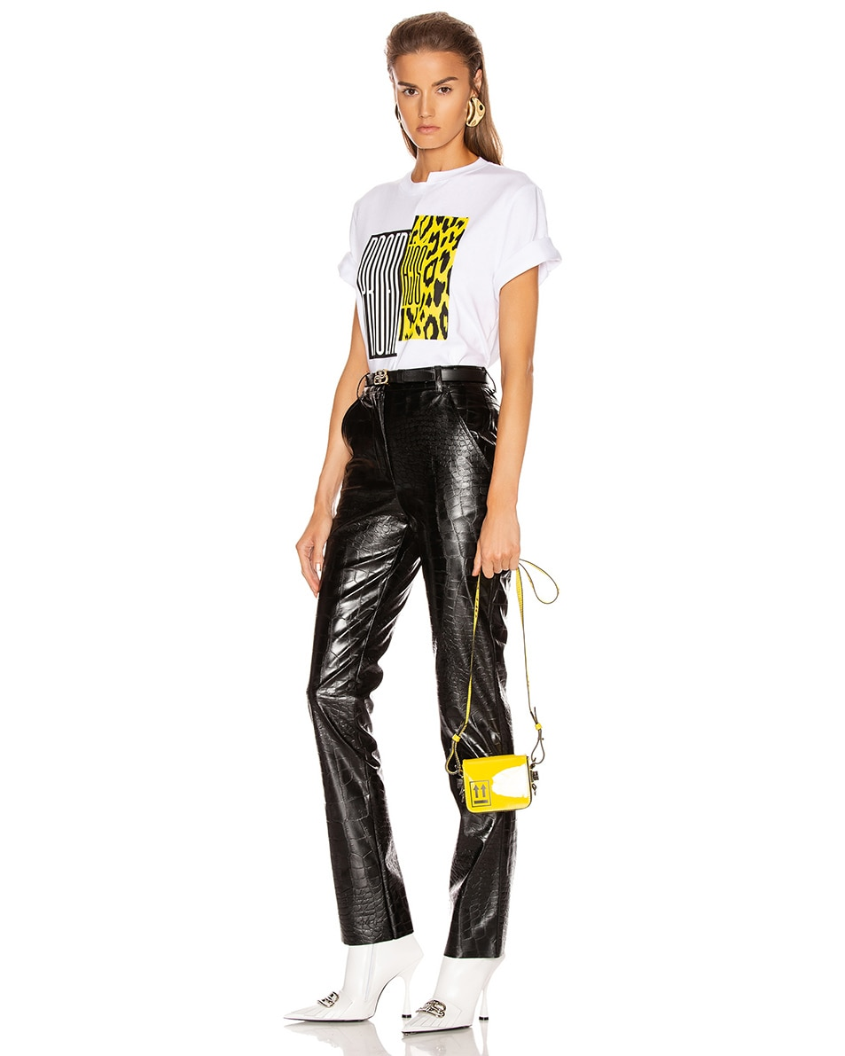 Image 2 of OFF-WHITE Patent Baby Flap Bag in Yellow & Black