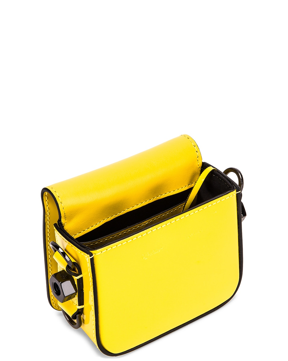Image 5 of OFF-WHITE Patent Baby Flap Bag in Yellow & Black