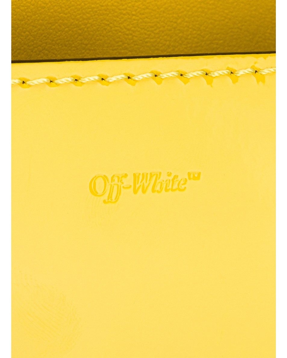 Image 7 of OFF-WHITE Patent Baby Flap Bag in Yellow & Black