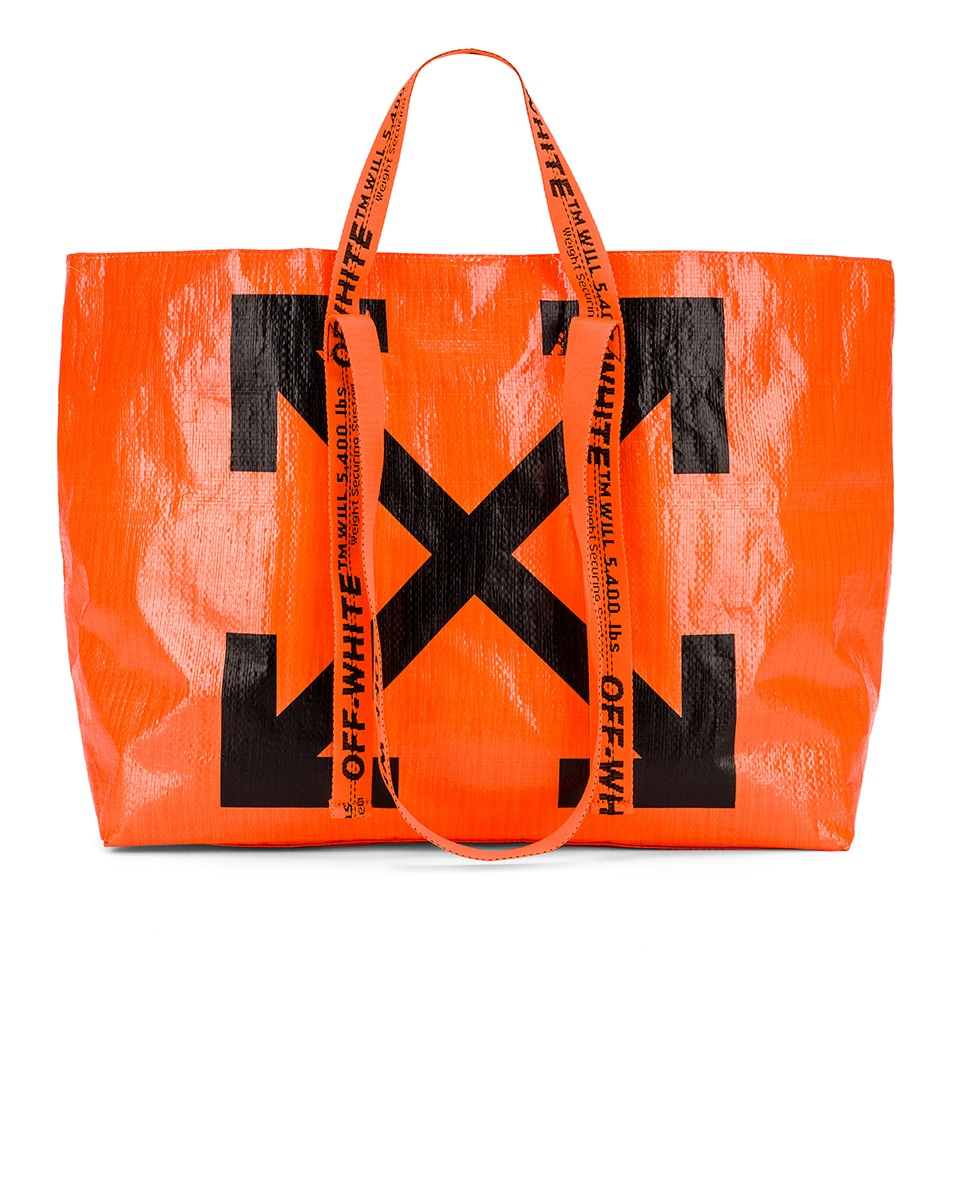 Image 1 of OFF-WHITE New Commercial Tote Bag in Orange & Black