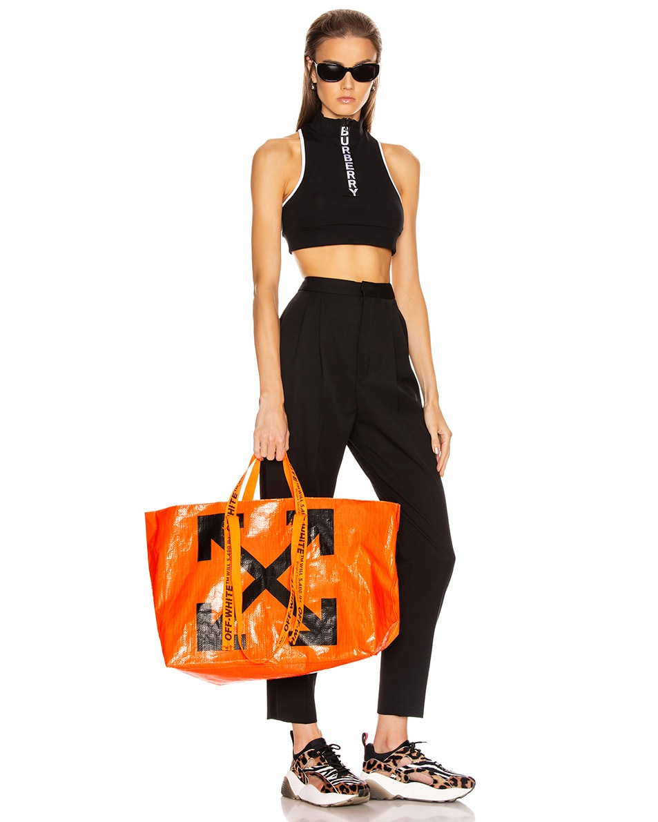 Image 2 of OFF-WHITE New Commercial Tote Bag in Orange & Black
