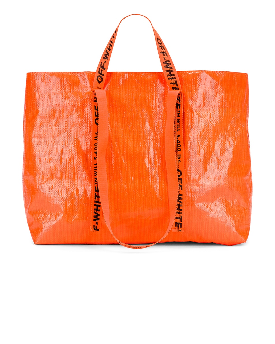 Image 3 of OFF-WHITE New Commercial Tote Bag in Orange & Black