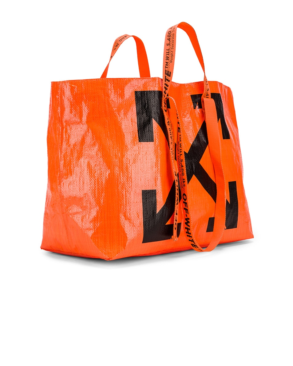 Image 4 of OFF-WHITE New Commercial Tote Bag in Orange & Black