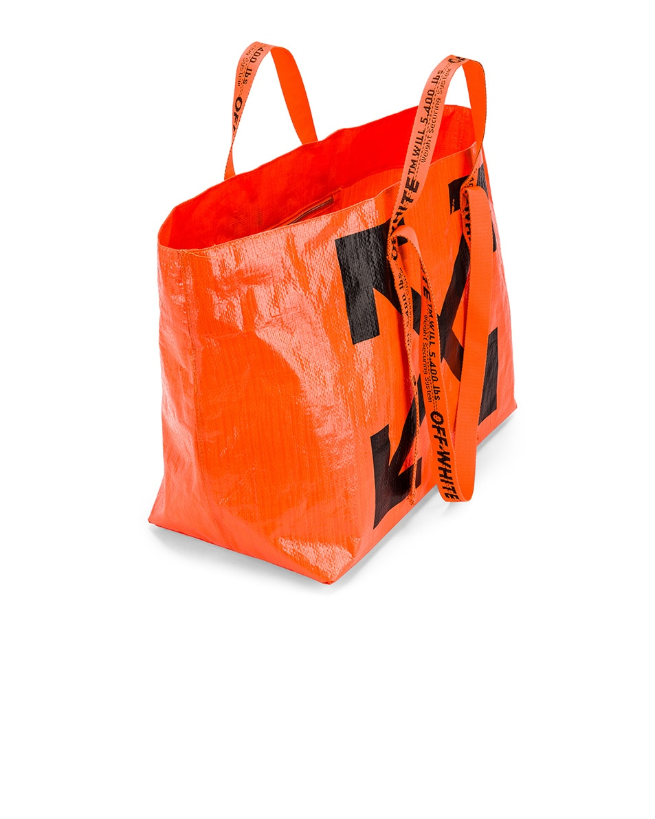 Image 5 of OFF-WHITE New Commercial Tote Bag in Orange & Black