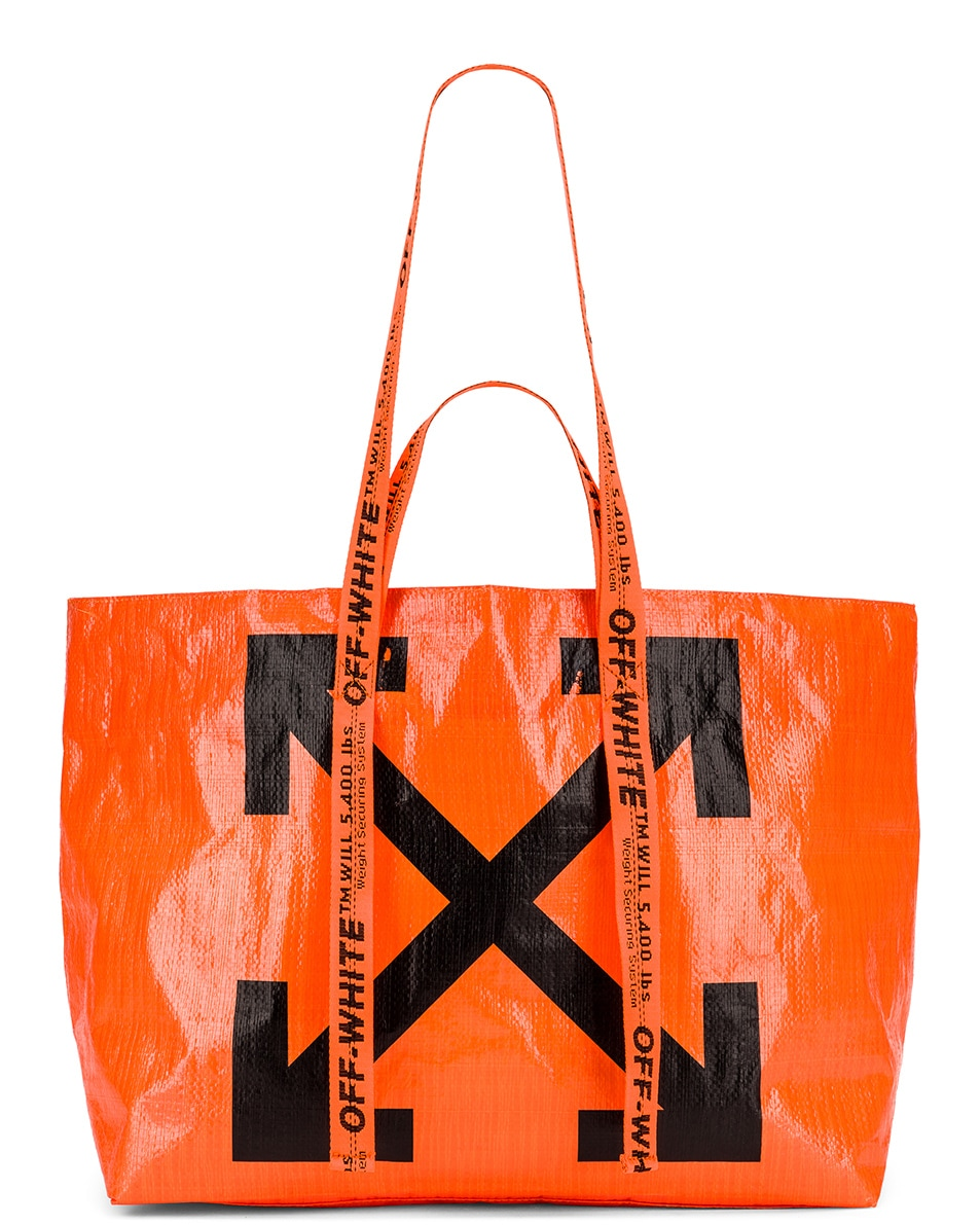 Image 6 of OFF-WHITE New Commercial Tote Bag in Orange & Black