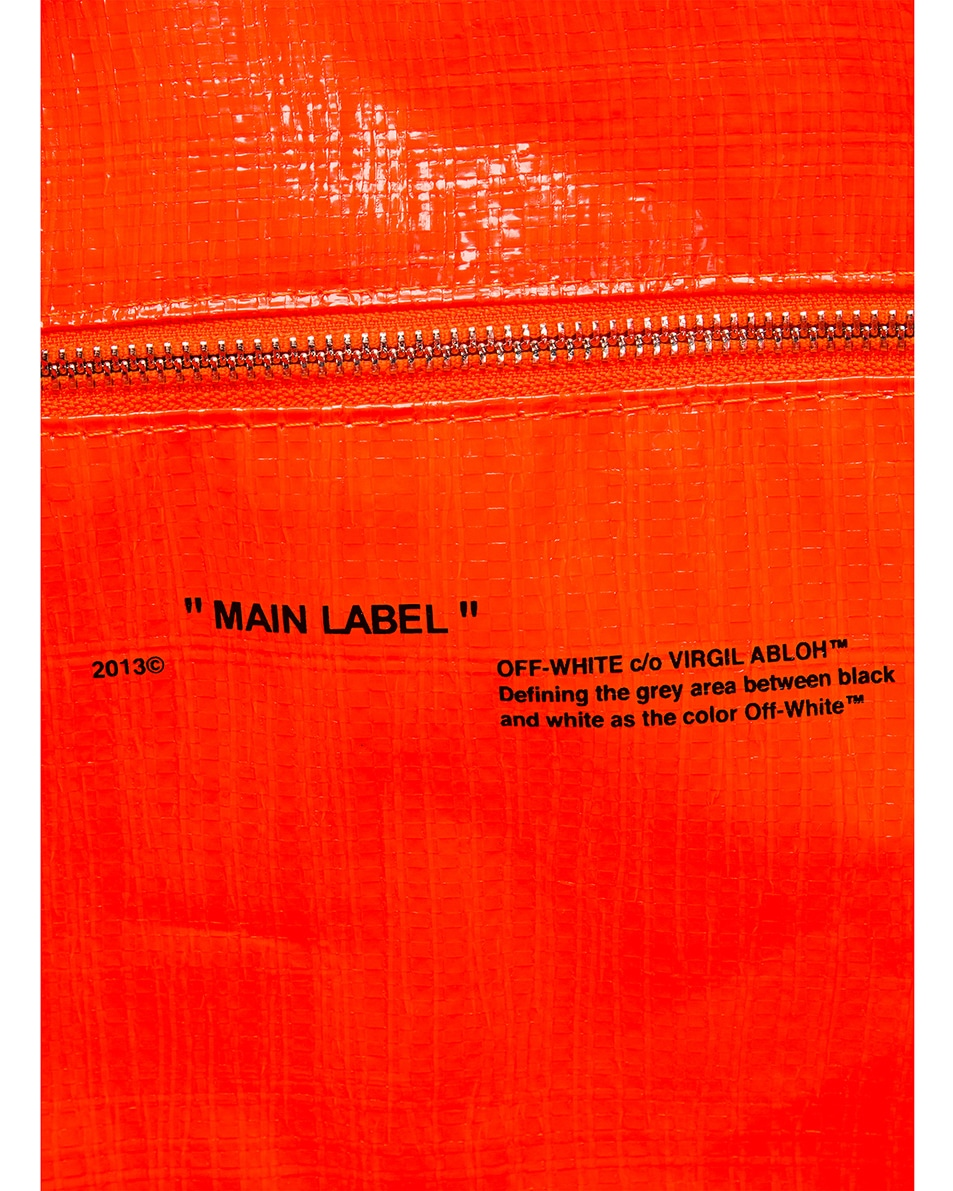 Image 7 of OFF-WHITE New Commercial Tote Bag in Orange & Black
