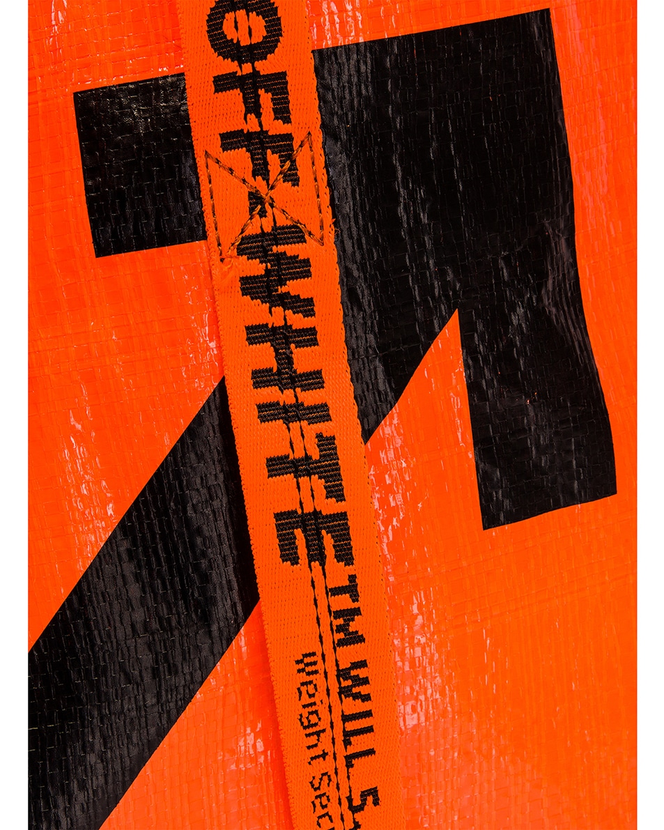 Image 8 of OFF-WHITE New Commercial Tote Bag in Orange & Black