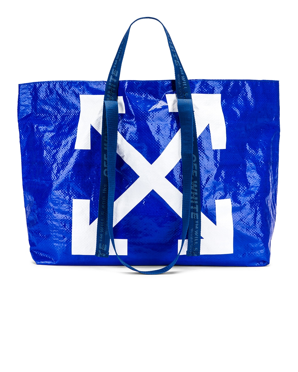 Image 1 of OFF-WHITE New Commercial Tote Bag in Blue & White