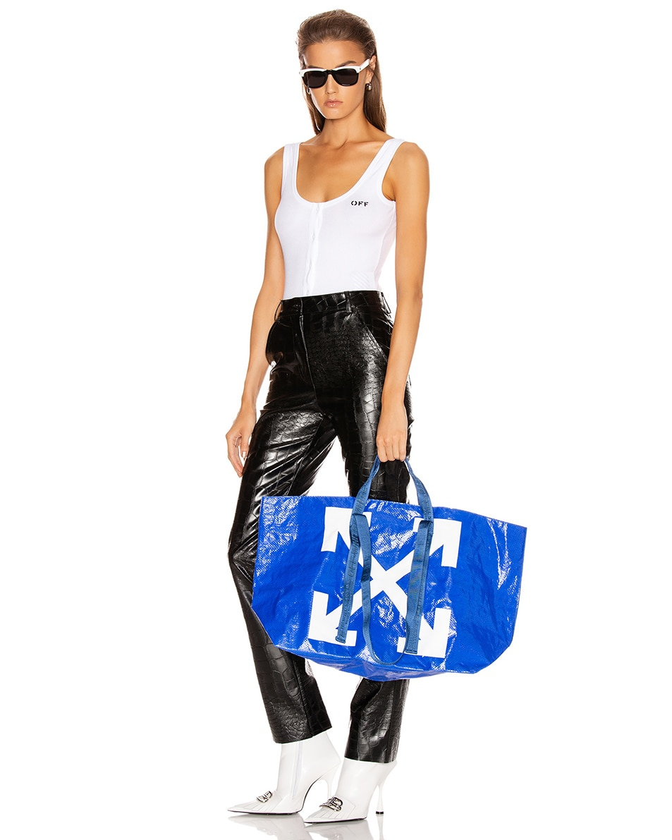 Image 2 of OFF-WHITE New Commercial Tote Bag in Blue & White