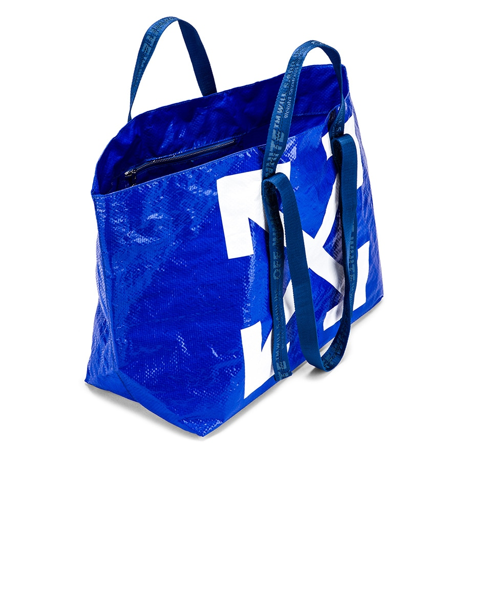 Image 5 of OFF-WHITE New Commercial Tote Bag in Blue & White