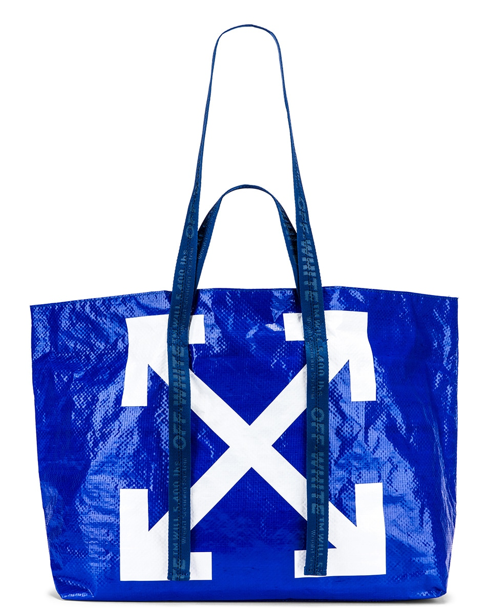 Image 6 of OFF-WHITE New Commercial Tote Bag in Blue & White