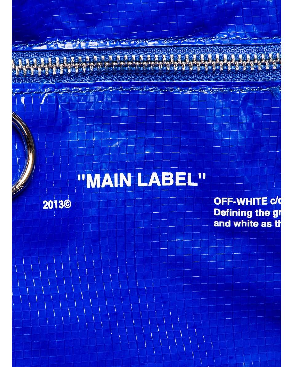 Image 7 of OFF-WHITE New Commercial Tote Bag in Blue & White