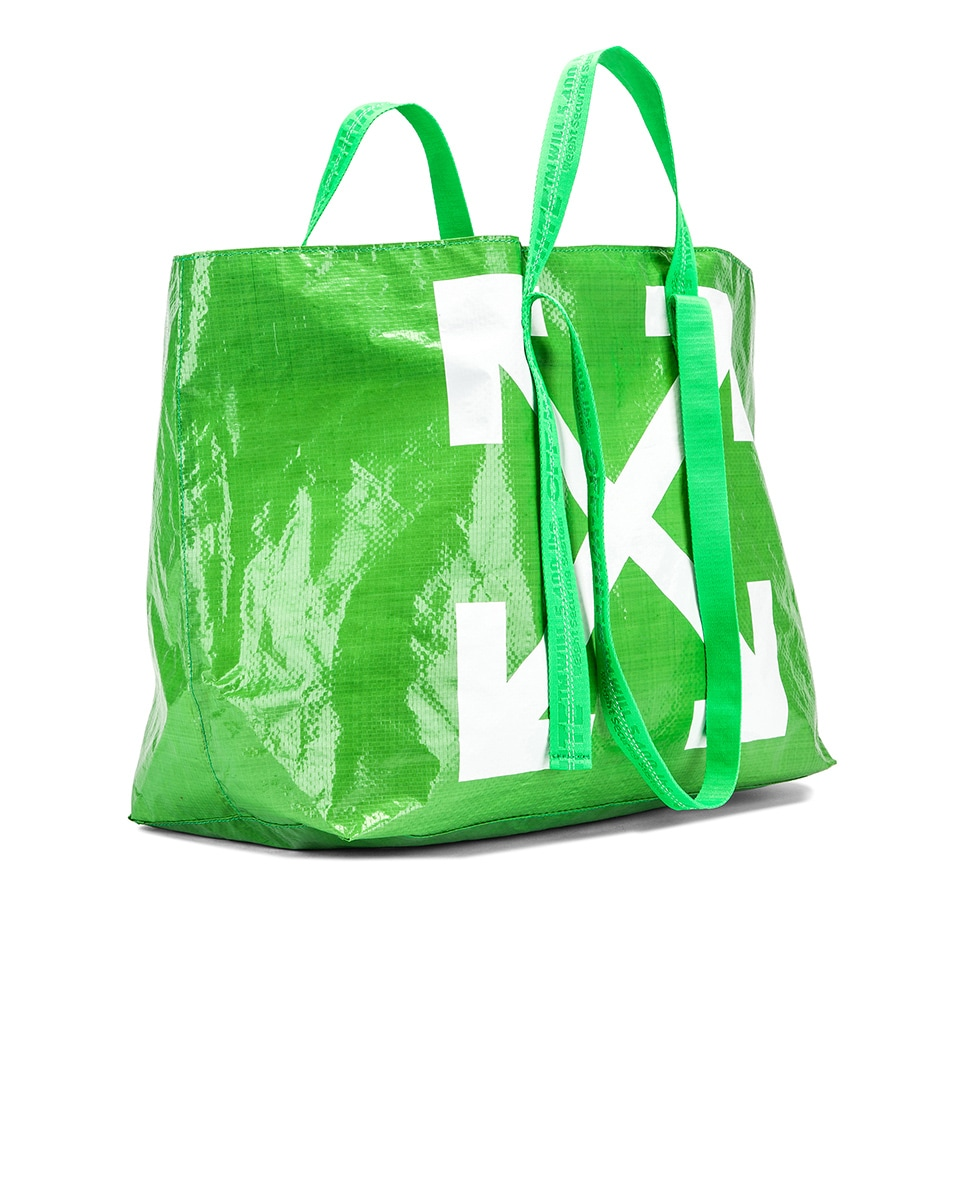Image 4 of OFF-WHITE New Commercial Tote Bag in Green & White