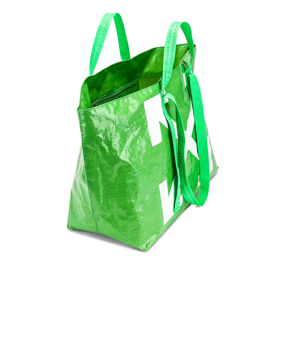 Image 5 of OFF-WHITE New Commercial Tote Bag in Green & White