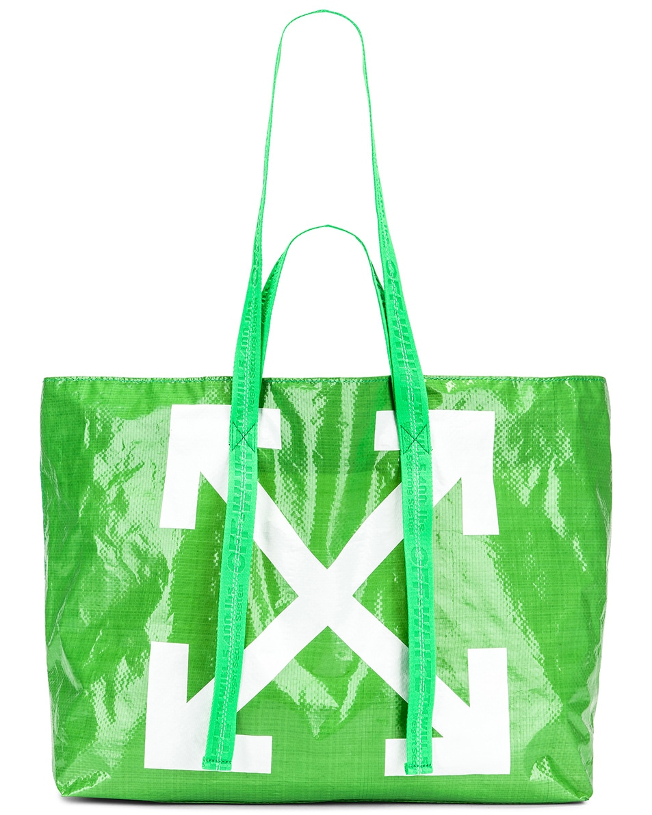 Image 6 of OFF-WHITE New Commercial Tote Bag in Green & White