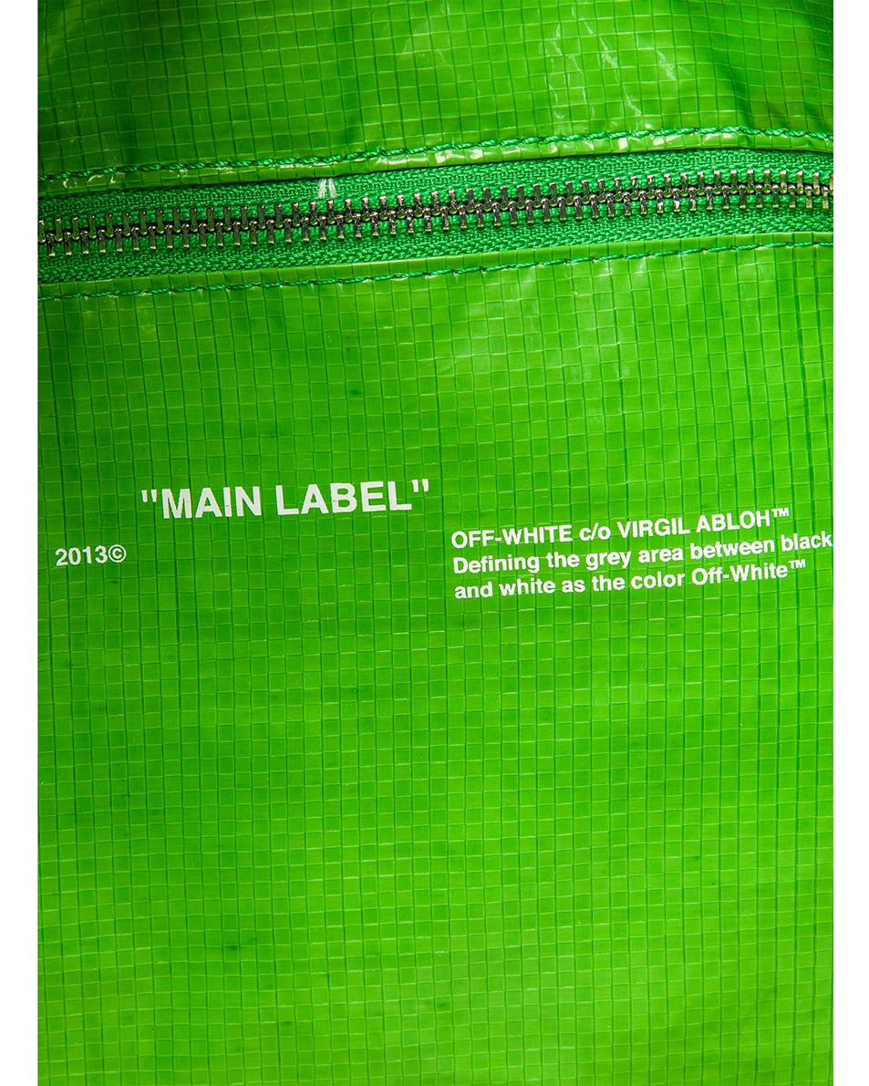 Image 7 of OFF-WHITE New Commercial Tote Bag in Green & White