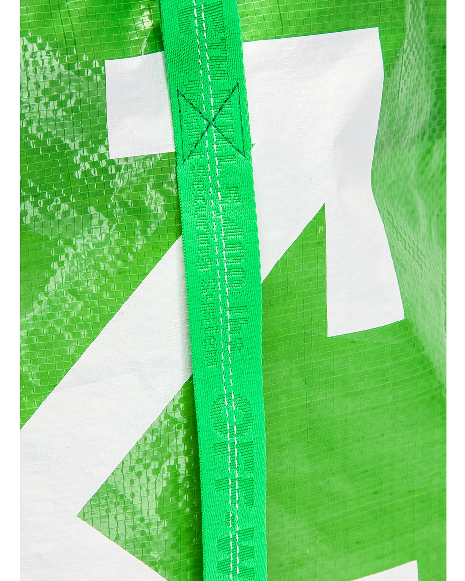 Image 8 of OFF-WHITE New Commercial Tote Bag in Green & White