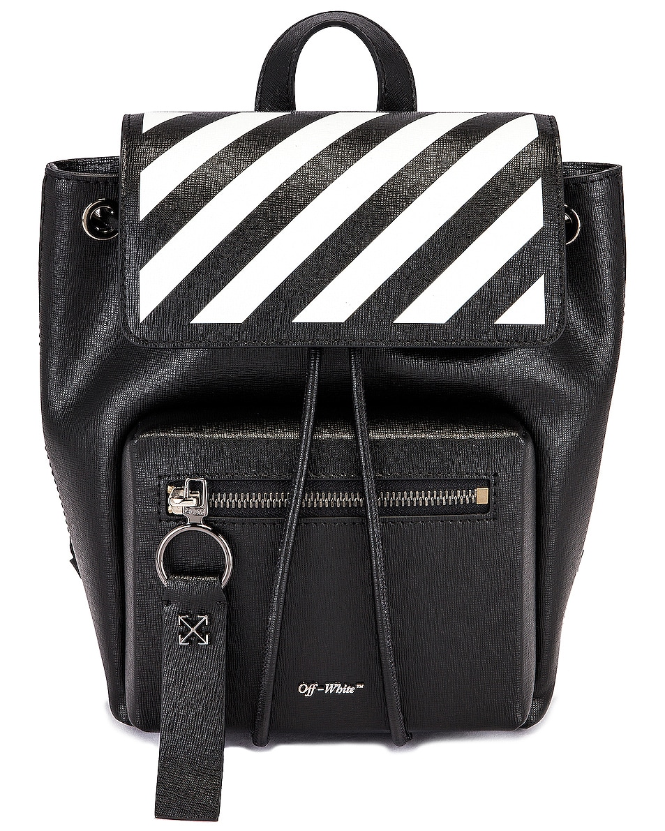 Image 1 of OFF-WHITE Diagonal Backpack in Black & White
