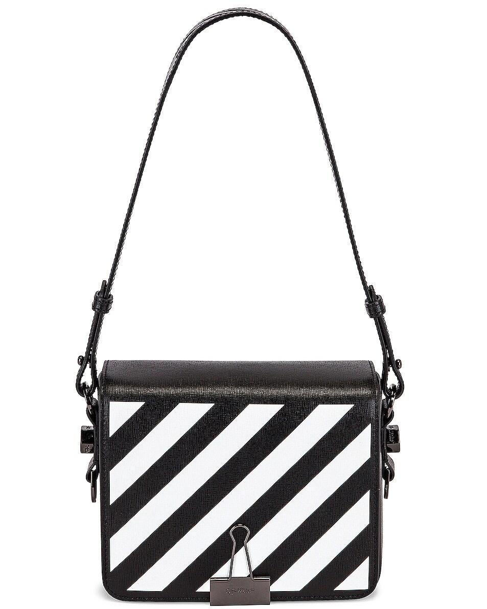 Image 1 of OFF-WHITE Diagonal Flap Bag in Black & White