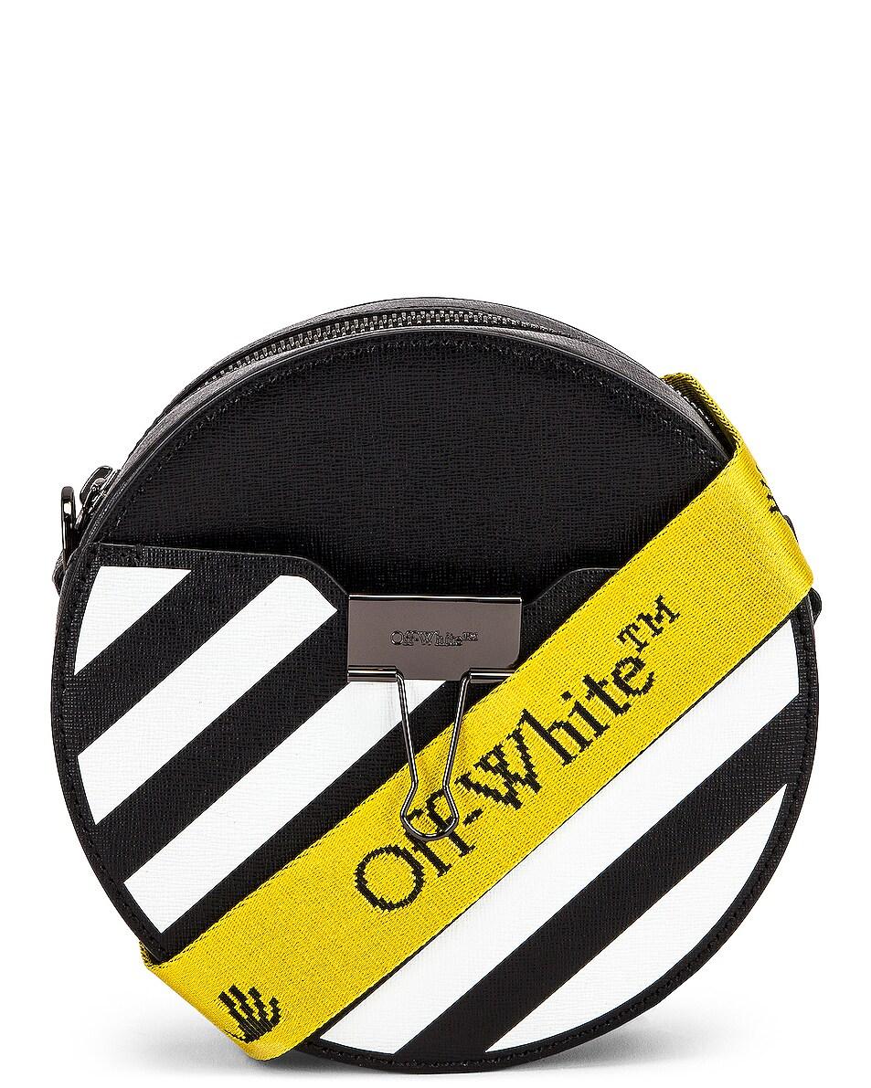 Image 1 of OFF-WHITE Diagonal Round Bag in Black & White