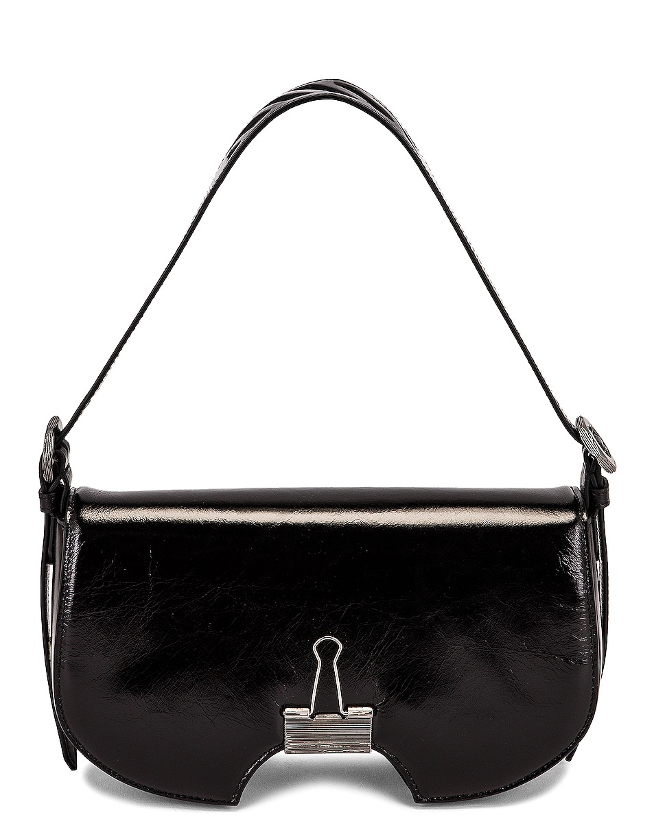 Image 1 of OFF-WHITE Swiss Flap Bag in Black