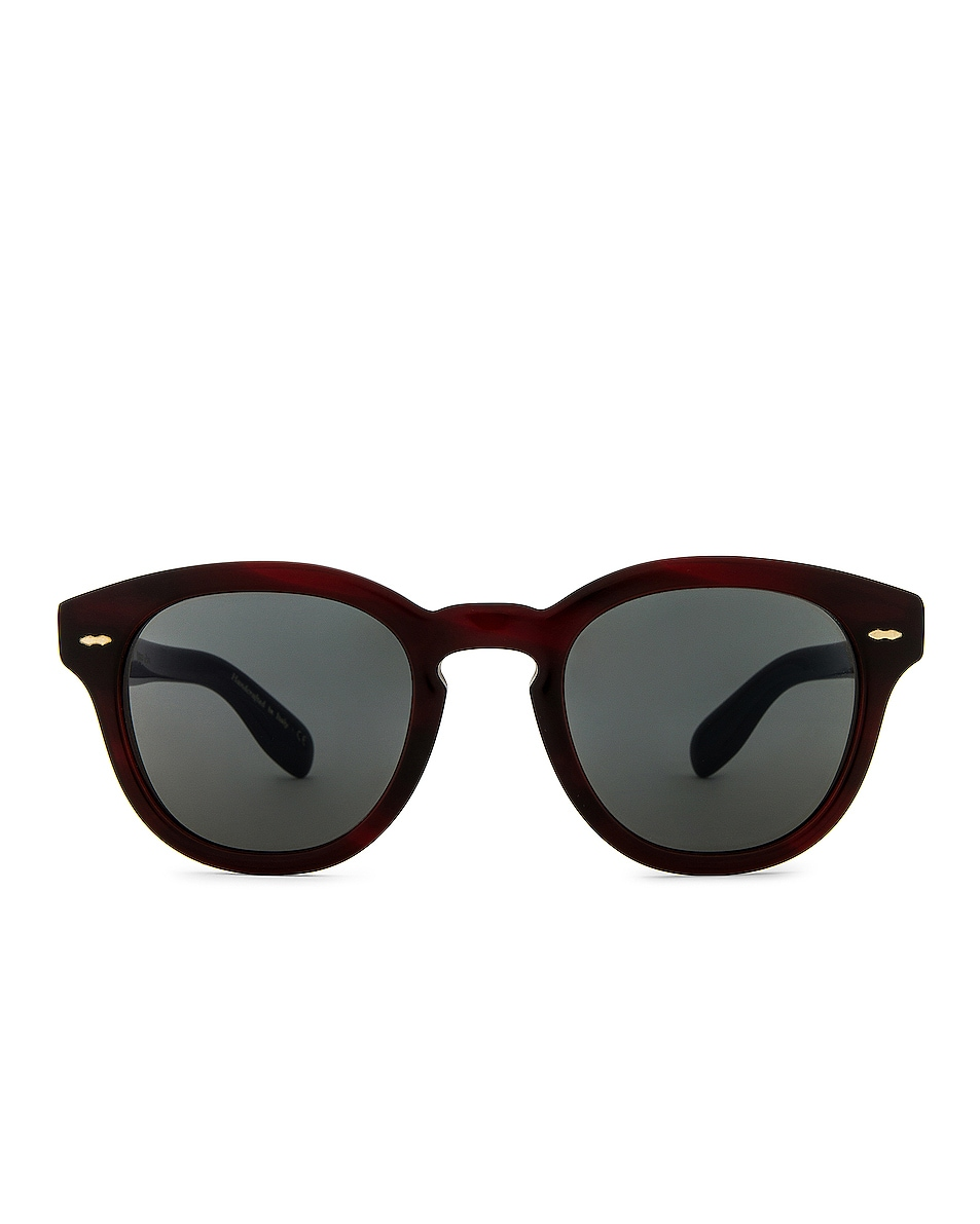 Image 1 of Oliver Peoples Cary Grant Sunglasses in Bordeaux Bark & Carbon Grey
