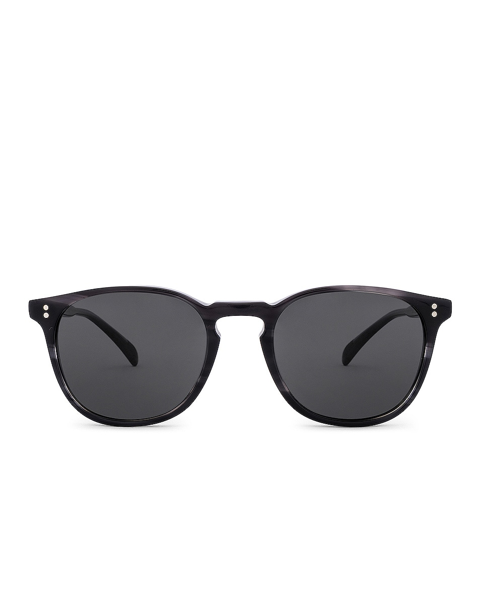 Image 1 of Oliver Peoples Finley Esq. Sun in Charcoal Tortoise