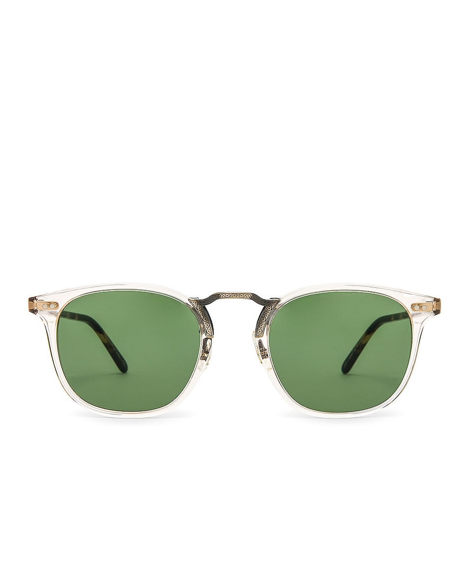 Image 1 of Oliver Peoples Roone in Buff Vintage DTB & Antique Gold w/ Green