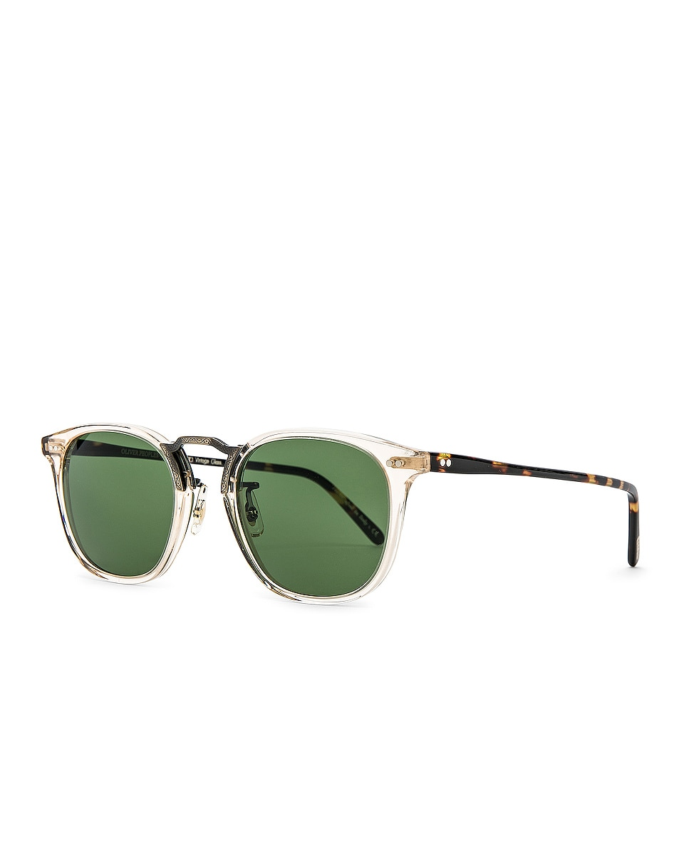 Image 2 of Oliver Peoples Roone in Buff Vintage DTB & Antique Gold w/ Green