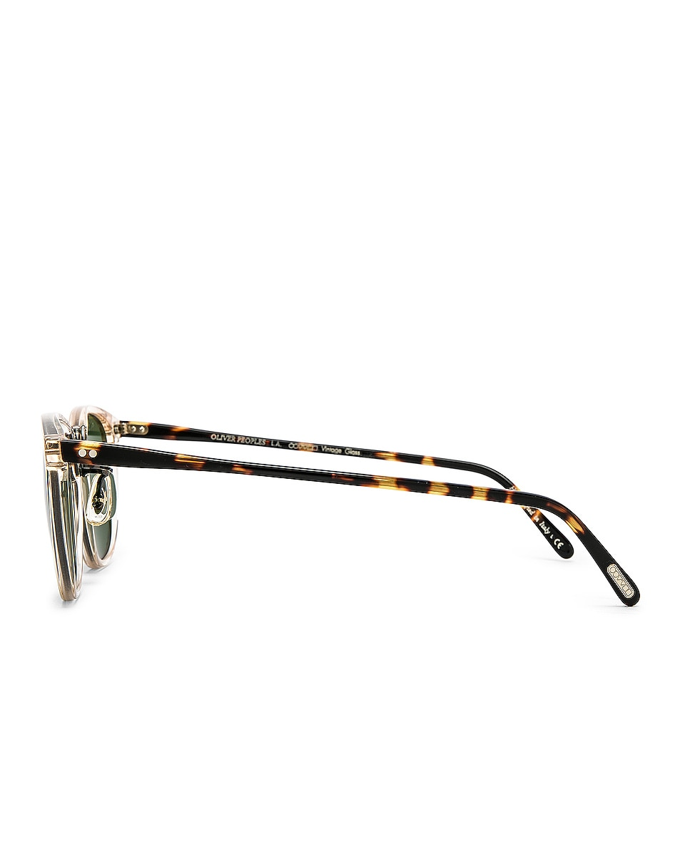 Image 3 of Oliver Peoples Roone in Buff Vintage DTB & Antique Gold w/ Green