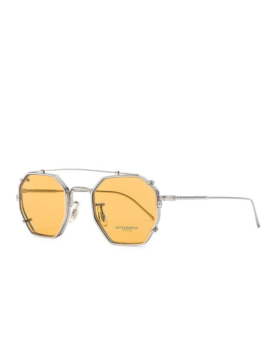 Image 2 of Oliver Peoples Assouline in Silver w/ Mustard